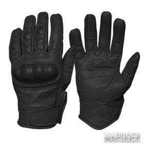 Перчатки тактические кожаные Leder черные