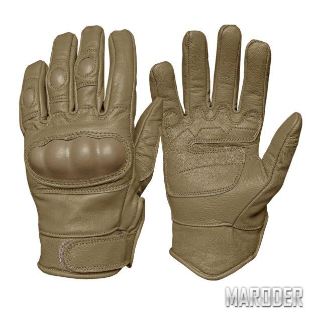 Перчатки тактические кожаные Leder хаки