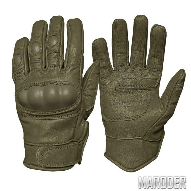 Перчатки тактические кожаные Leder олива