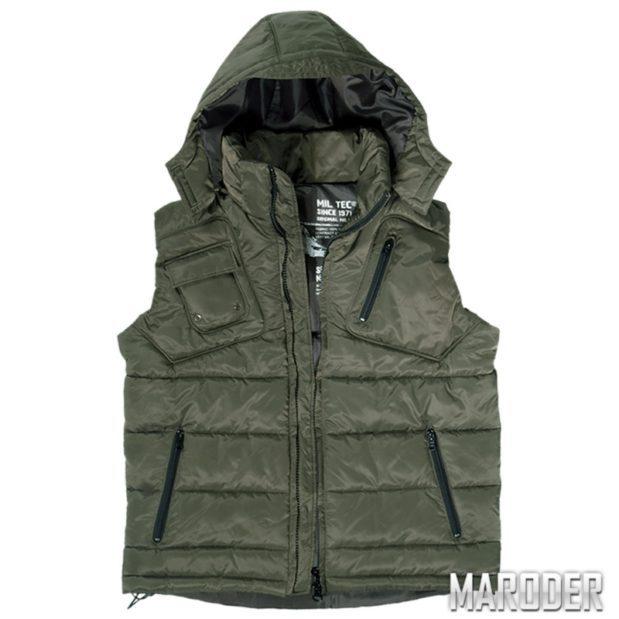 Куртка без рукавов PRO VEST с капюшоном, олива