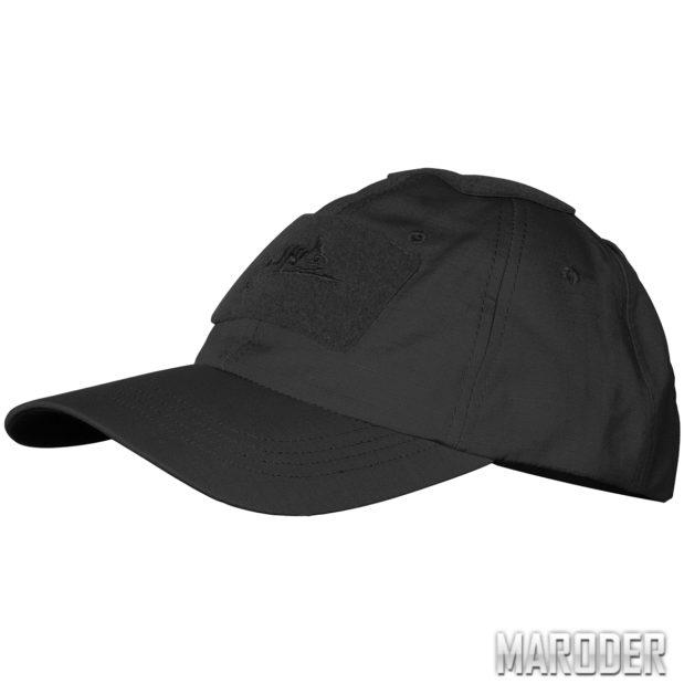 Бейсболка Cotton Ripstop Черная helikon хеликон