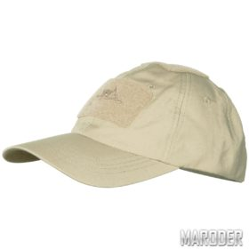Бейсболка Cotton Ripstop Khaki helikon хеликон