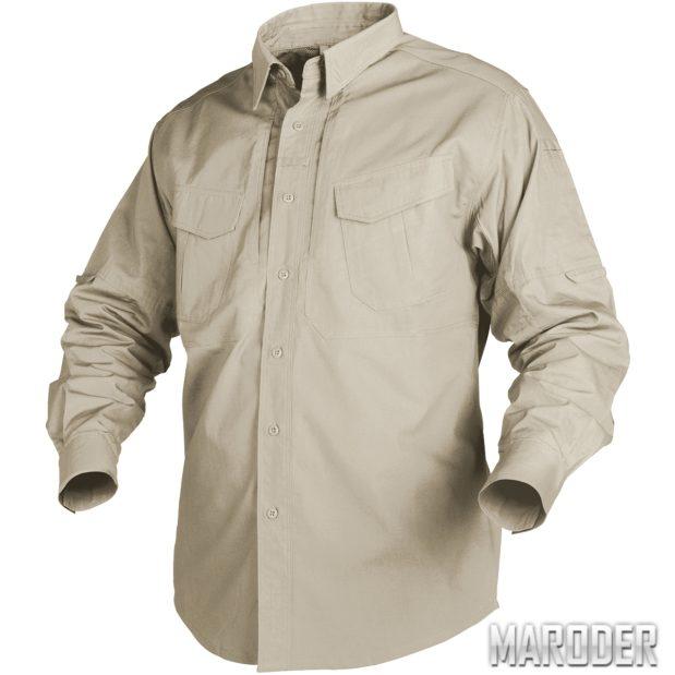 Рубашка тактическая Defender Long Khaki helikon хеликон