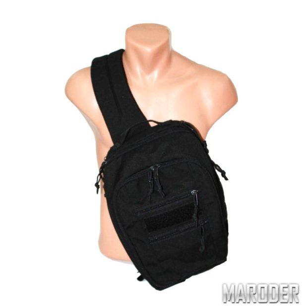 Тактическая плечевая сумка А46 через плече однолямочная