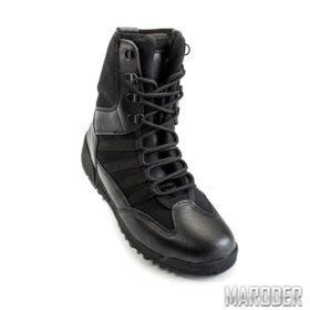 Тактические ботинки SHARK черные кожа