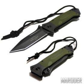 Нож складной DA35 TANTO Олива