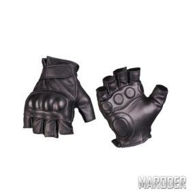 Перчатки тактические беспалые с защитой с кастетом