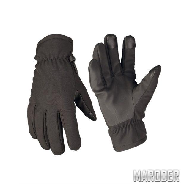Перчатки сенсорные зимние SOFTSHELL THINSULATE Черные