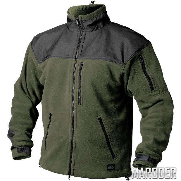 Флисовая куртка CLASSIC ARMY FLEECE олива-черный
