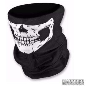 Шарф-труба черный с черепом