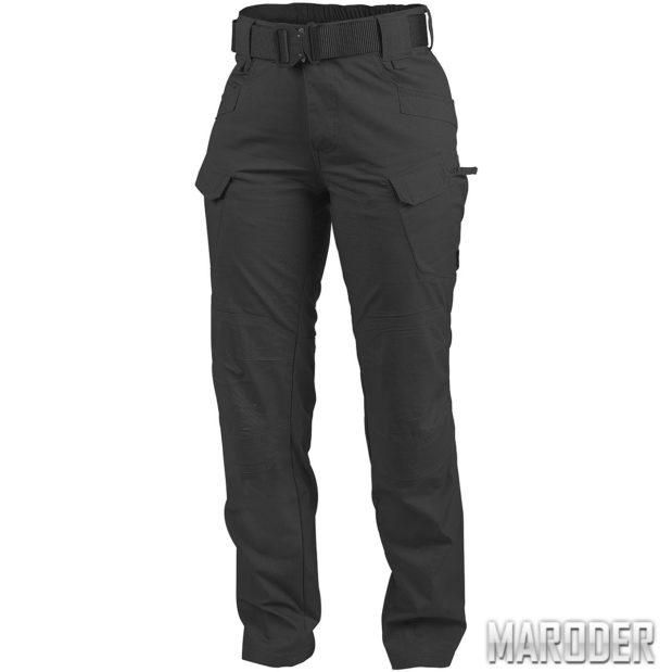 Тактические женские брюки PolyCotton Ripstop UTP Черные. Helikon-tex