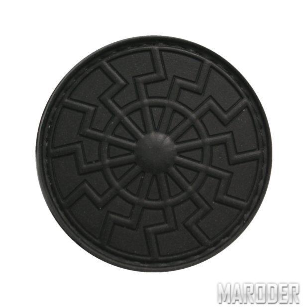 Нашивка Черное Солнце шеврон ПВХ
