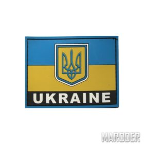 Шеврон ПВХ флаг Украины с надписью UKRAINE
