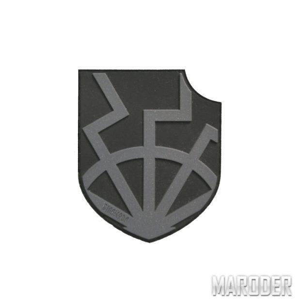 Шеврон ПВХ Black Sun on shield черный