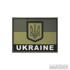 Шеврон ПВХ флаг Украины полевой с надписью UKRAINE