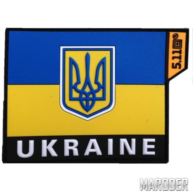 Нашивка резиновая ПВХ флаг Украины. 5.11 Tactical