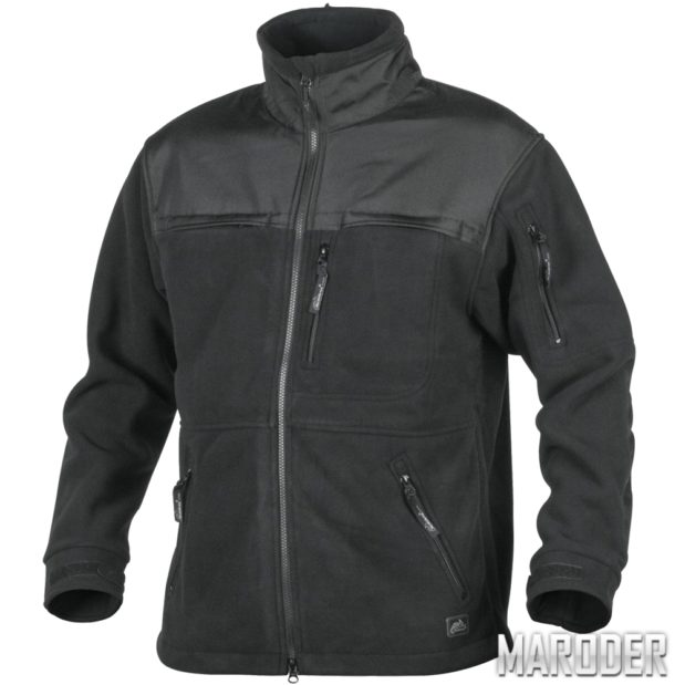 Флисовая куртка DEFENDER DUTY FLEECE QSA Black. Helikon-Tex