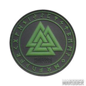 Нашивка Трикверт зеленая резиновая ПВХ