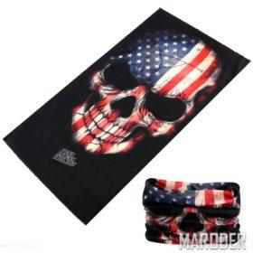Шарф труба с черепом расцветки флага США