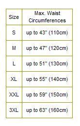 таблица размеров ремня кобра хеликон