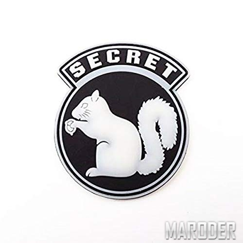 Морал патч SECRET с белкой