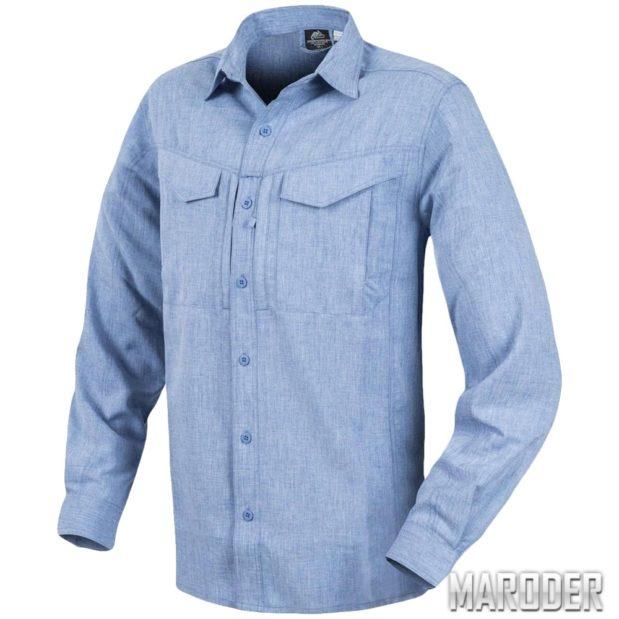 Рубашка DEFENDER Mk2 Gentleman Melange Light-Blue