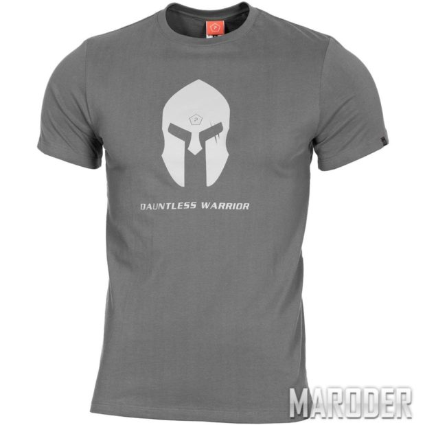 Футболка Ageron T-Shirt Spartan Helmet Wolf Grey
