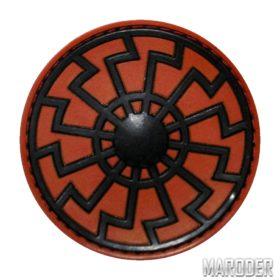 Нашивка Черное Солнце шеврон ПВХ Red