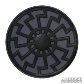 Нашивка Черное Солнце шеврон ПВХ Grey