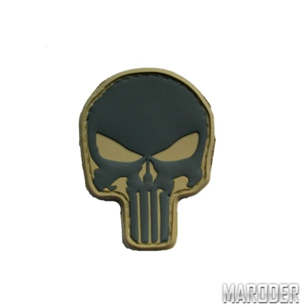 Нашивка череп каратель Punisher PVS Олива