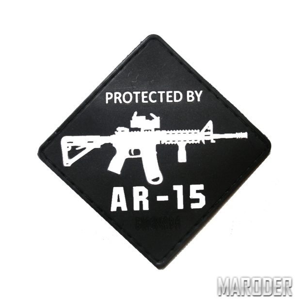 морал патч Protected by AR-15