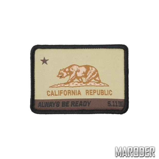 Нашивка California State Bear Patch. 5.11 Tactical