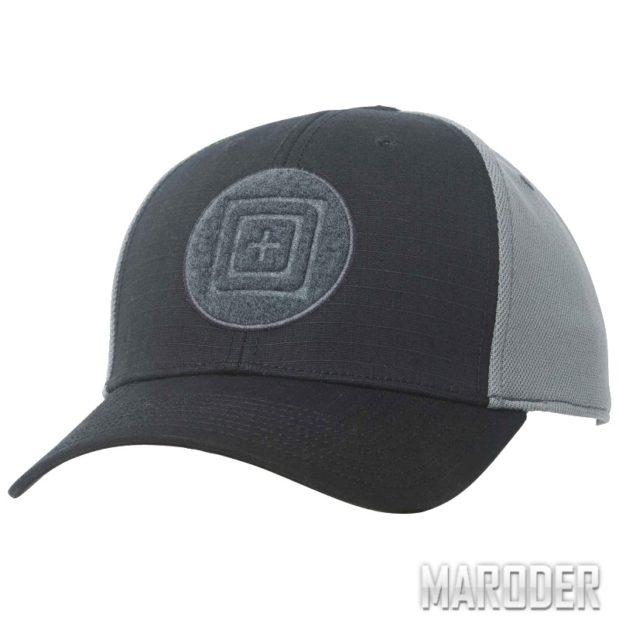 Бейсболка тактическая Downrange Cap 2.0 Black. 5.11 Tactical