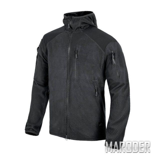 Куртка ALPHA HOODIE Grid Fleece black