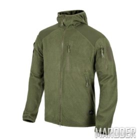 Куртка ALPHA HOODIE Grid Fleece Olive Green