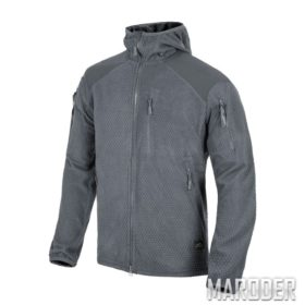 Куртка ALPHA HOODIE Grid Fleece Shadow Grey