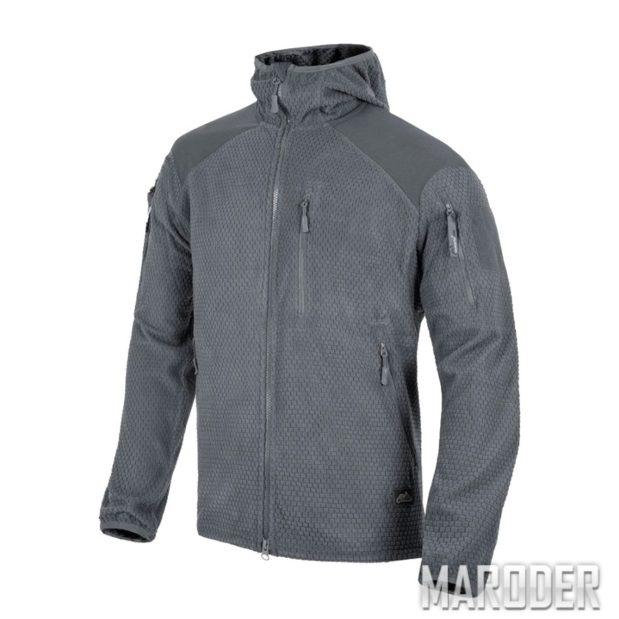 Куртка ALPHA HOODIE Grid Fleece Shadow Grey