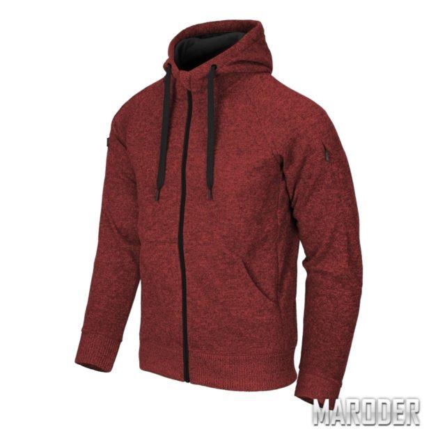 Куртка Covert Tactical Hoodie FullZip Melange Red. Helikon-Tex