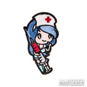Морал патч Nurse Girl Blue. Mil-Spec Monkey