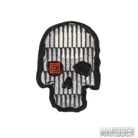 Нашивка BULLET SKULL Grey Patch. 5.11 Tactical