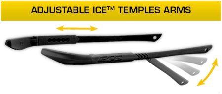 Очки защитные ESS ICE дужки гибкие
