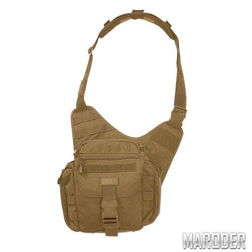 Тактическая плечевая сумка с кобурой PUSH Pack Flat Dark Earth. 5.11 Tactical