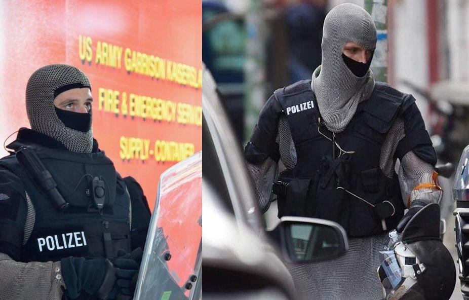 полиция германии использует рыцарские кольчуги