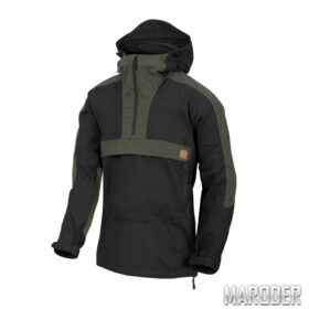 Анорак Woodsman Anorak Jacket Black-Taiga Green. Helikon-Tex