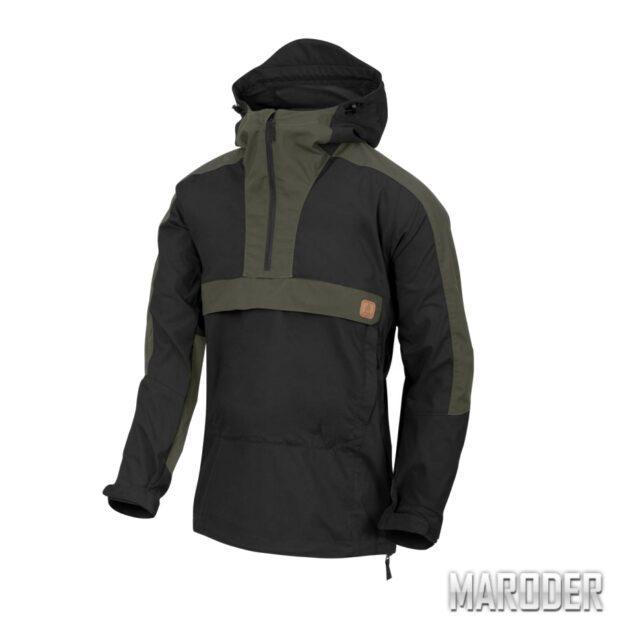Анорак Woodsman Anorak Jacket Black-Taiga Green. Helikon-Tex