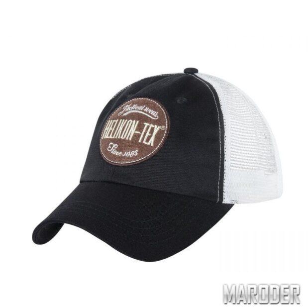 Бейсболка Trucker Logo Black. Helikon-Tex