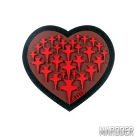 Нашивка Airplane Heart Patch. 5.11 Tactical