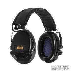 Активные наушники Sordin Supreme Pro X Black с кожаным оголовьем