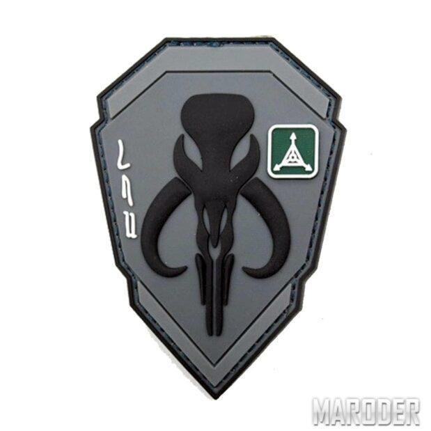 Морал патч Bounty Hunters Mandalorian Grey