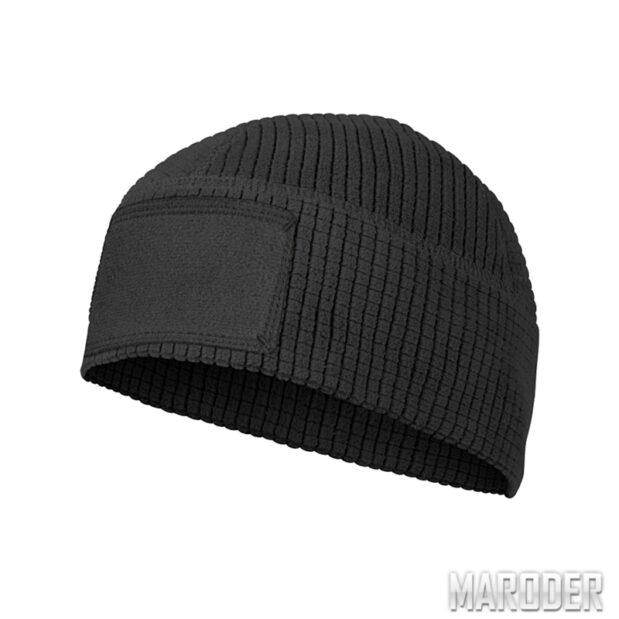 Шапка RANGE Beanie Grid Fleece Black. Helikon-Tex
